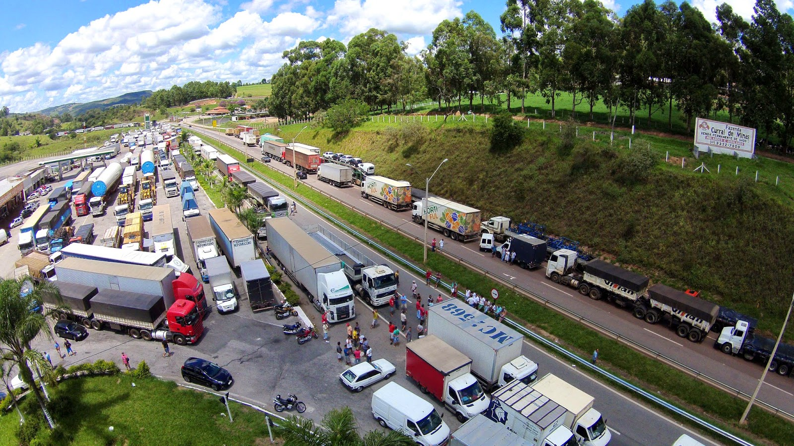greve nas estradas