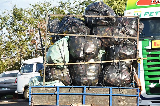Mais de mil quilos de materiais recicláveis foram recolhidos em Interlagos. (Luciana Flores)