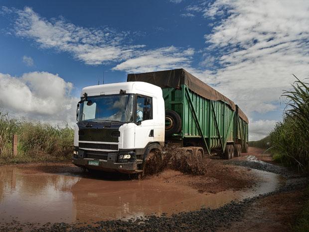 Scania truck at field test Araraquara, Brazil Photo: Gustav Lindh 2016