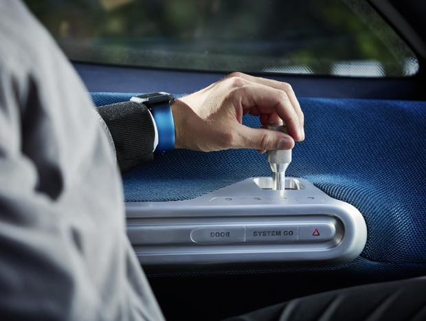 Mercedes-Benz Vision Van – Interior, Joystick Control ; Mercedes-Benz Vision Van – Interior, Joystick Control;