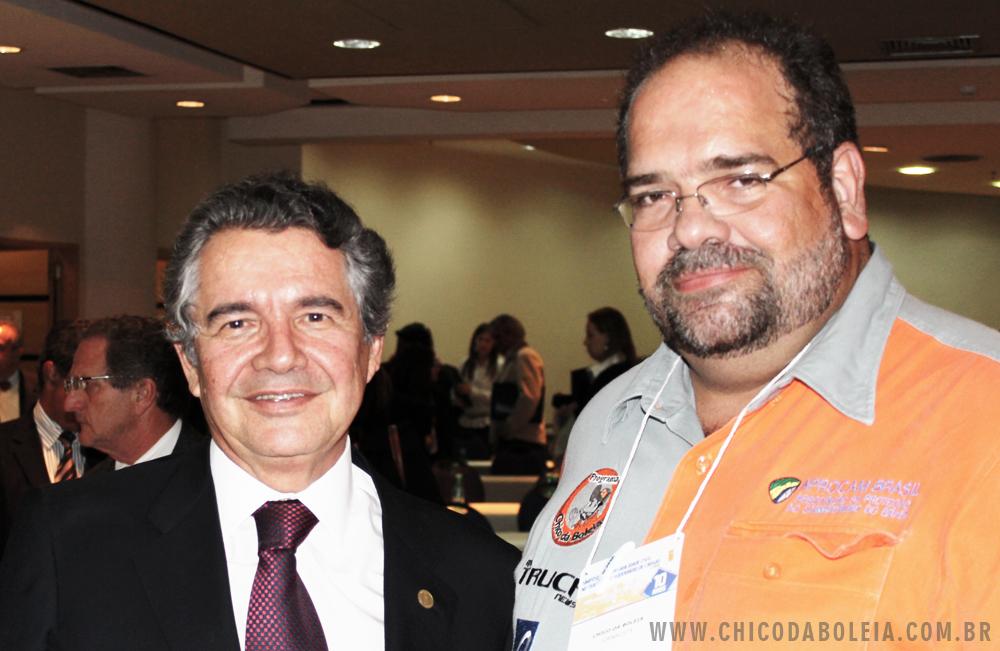 Chico da Boleia e o ministro do Supremo Tribunal Federal Marco Aurélio Mello