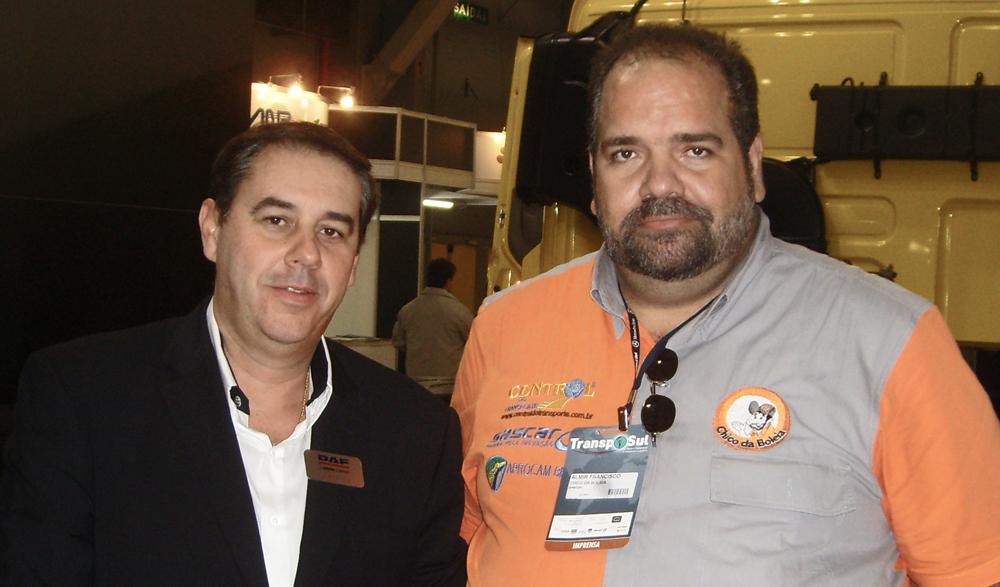 Chico da Boleia e Luiz Antonio P. De Luca diretor de Operações da DAF