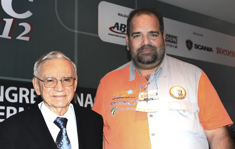 Chico da Boleia e o Ex ministro Ozires Silva na abertura do XIII da ABTC em Maceió