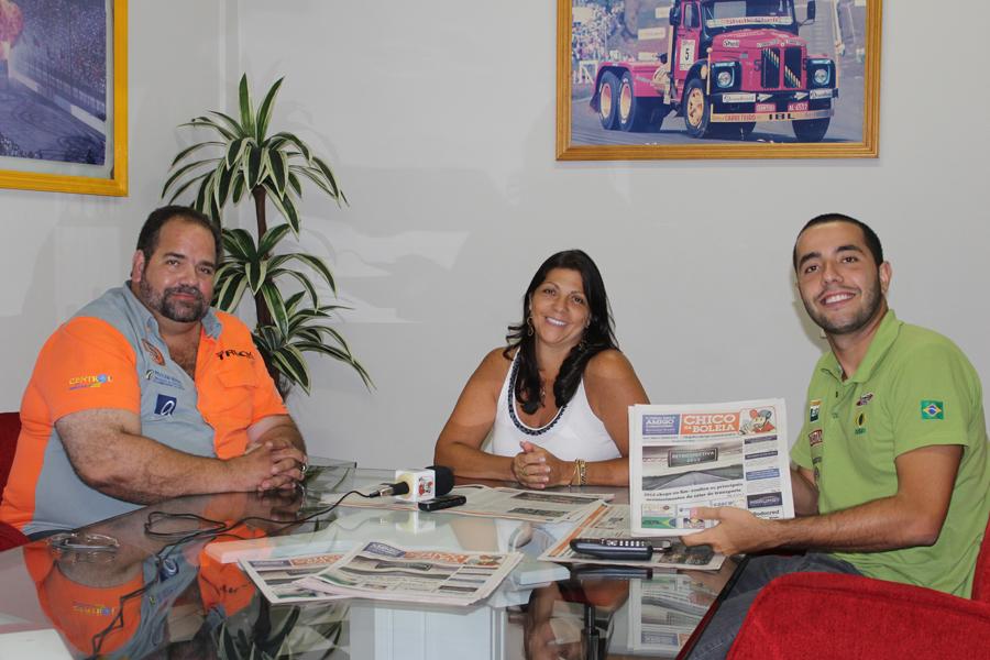 Chico da Boleia, Neusa Navarro presidente da Fórmula Truck e Vytor Zeidan