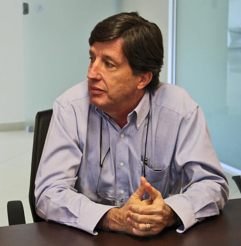 Chico da Boleia e o Superintendente Helvécio Tamm, conversam sobre o novo Sistema Operacional da Autopista Fernão Dias