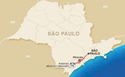 Autopista Régis Bittencourt reduz acidentes com sinalização especial em trechos da Serra do Cafezal
