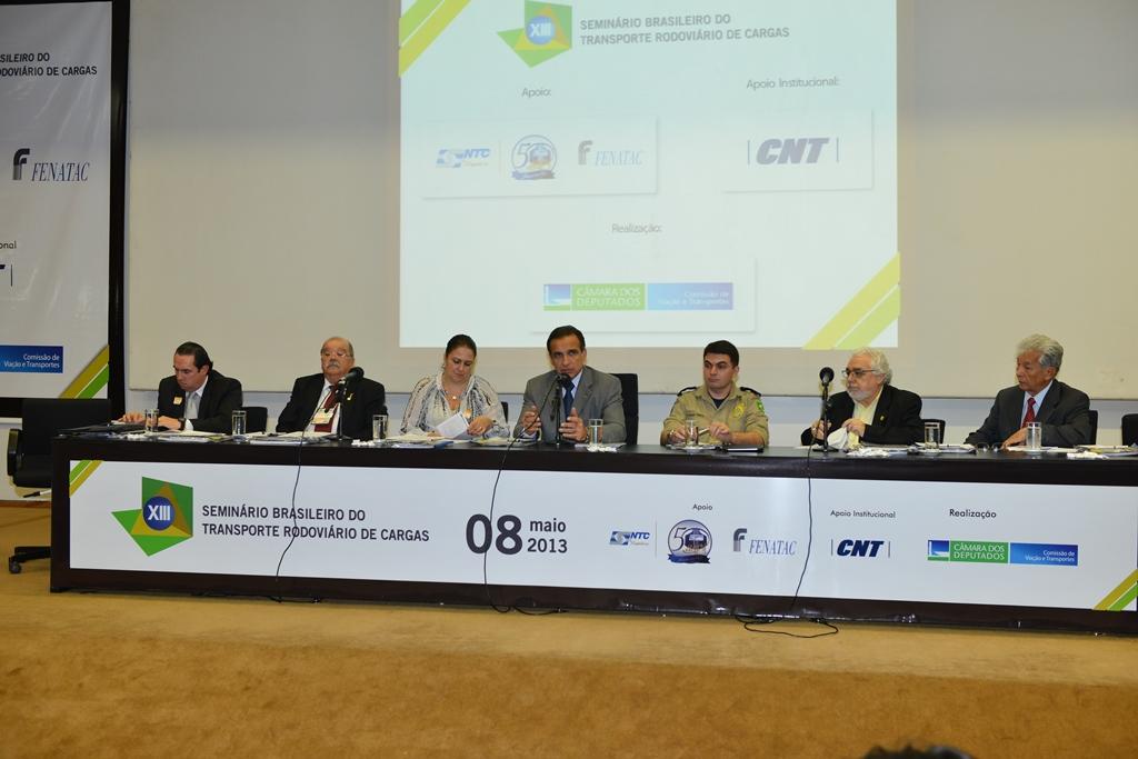 Abertura do XIII Seminário Brasileiro do Transporte Rodoviário de Cargas