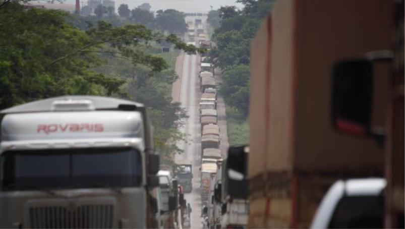Exportação de soja cai 42% em MT por falta de logística para escoamento