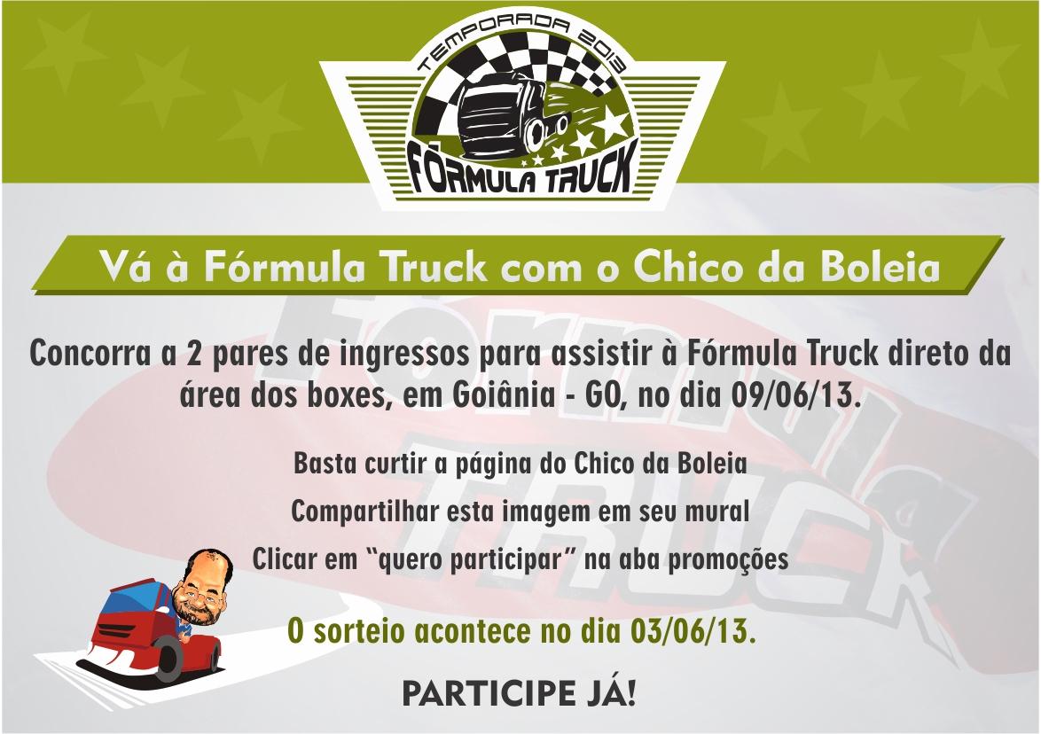 Và à Fórmula Truck com o Chico da Boleia Etapa Goiânia  – GO