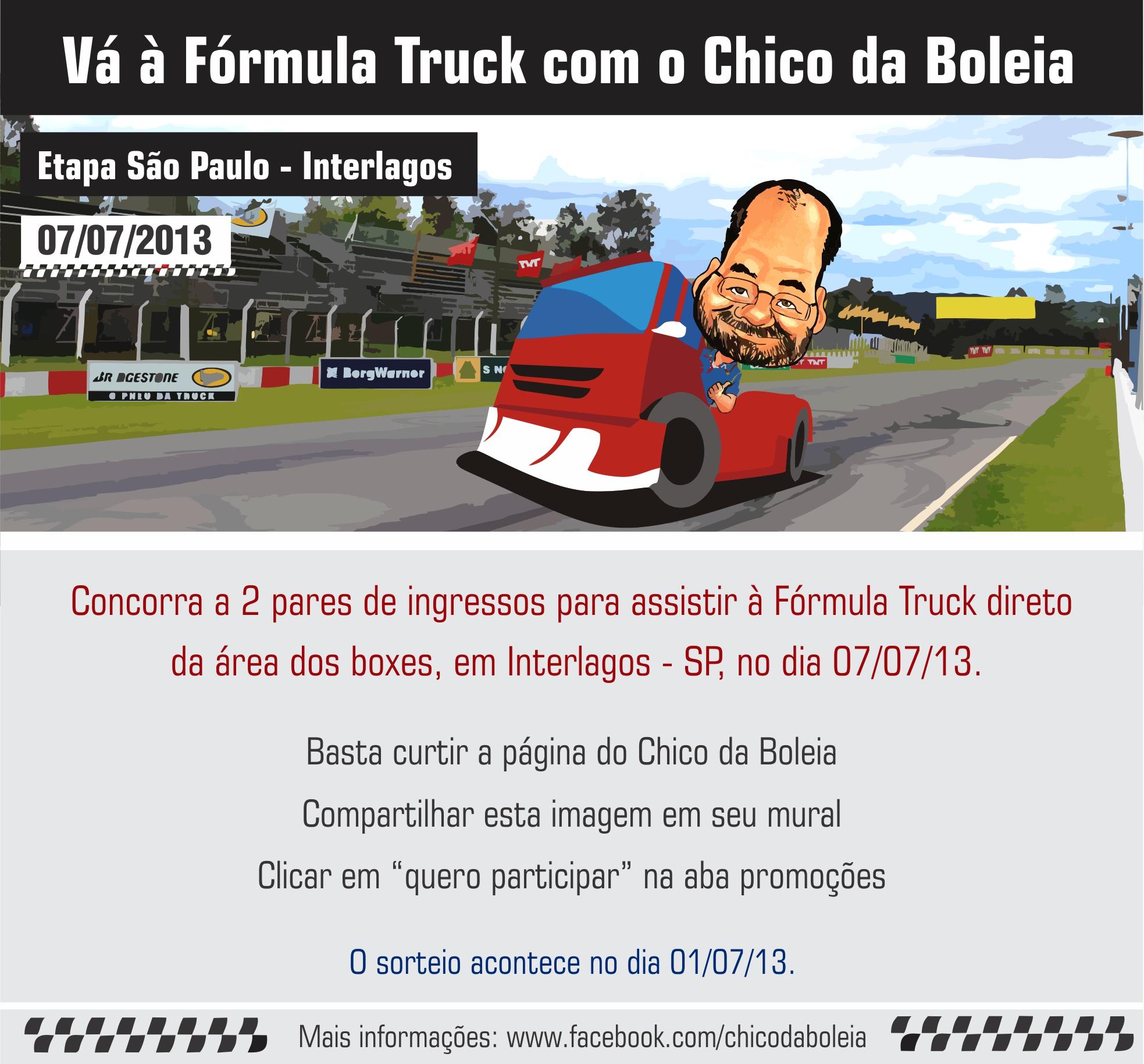Và à Fórmula Truck com o Chico da Boleia Etapa Interlagos – São Paulo