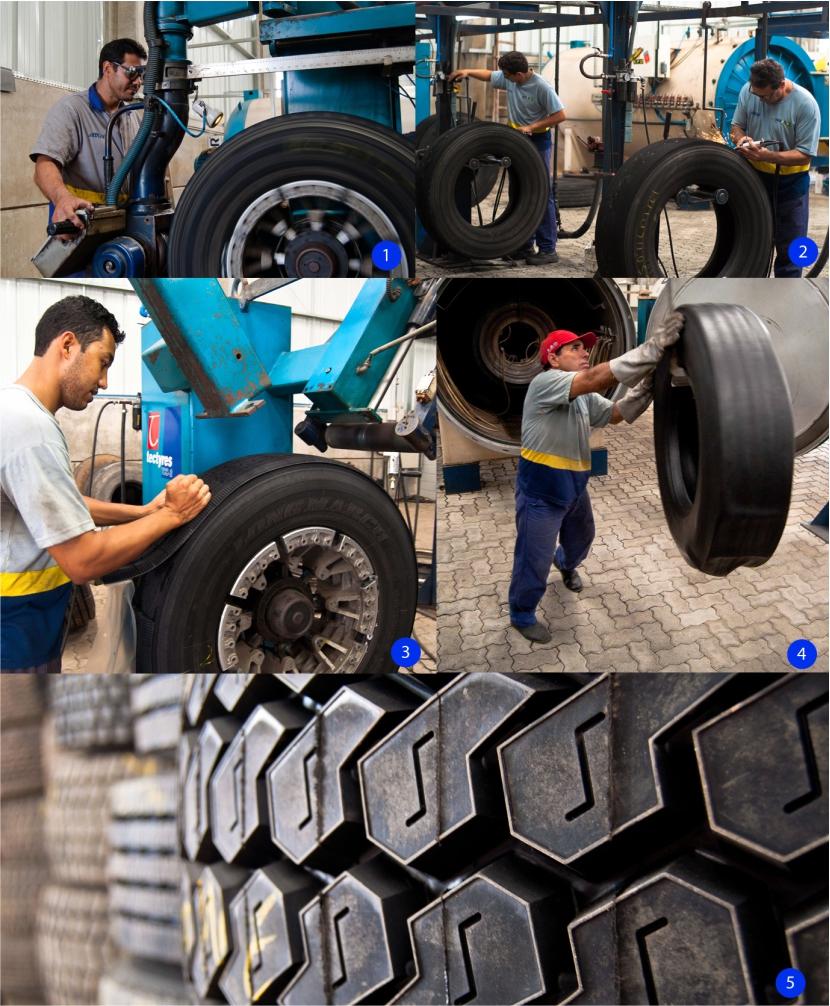 Entenda como acontece a recauchutagem dos pneus