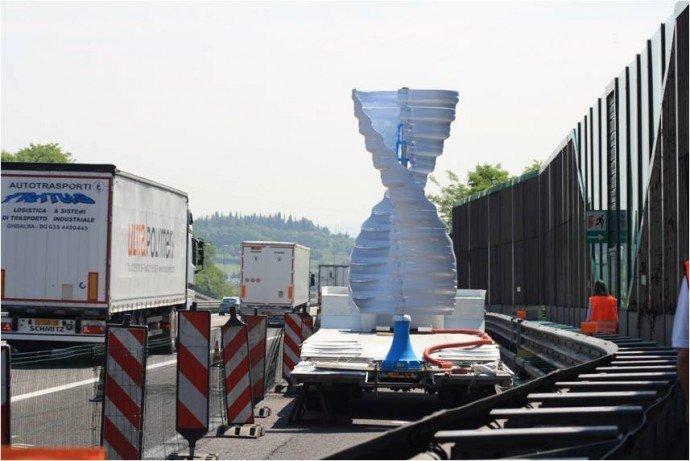 Deslocamento de ar provocado por caminhões vira energia