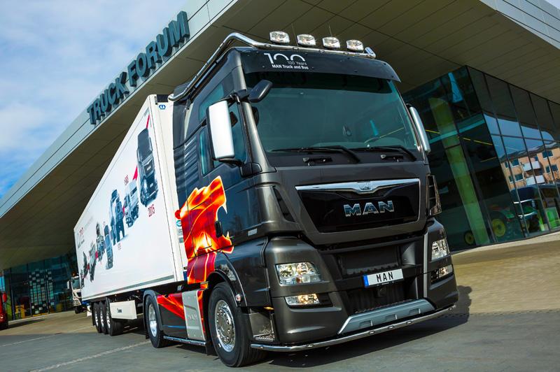MAN apresenta na Europa edição especial do caminhão TGX