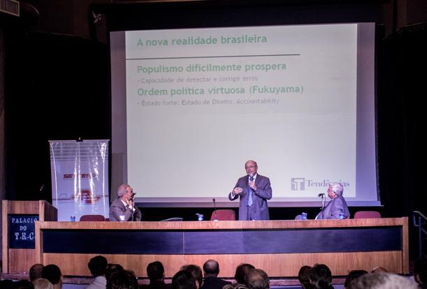 Ex-ministro Maílson da Nóbrega expõe panorama econômico do Brasil em palestra no SETCESP
