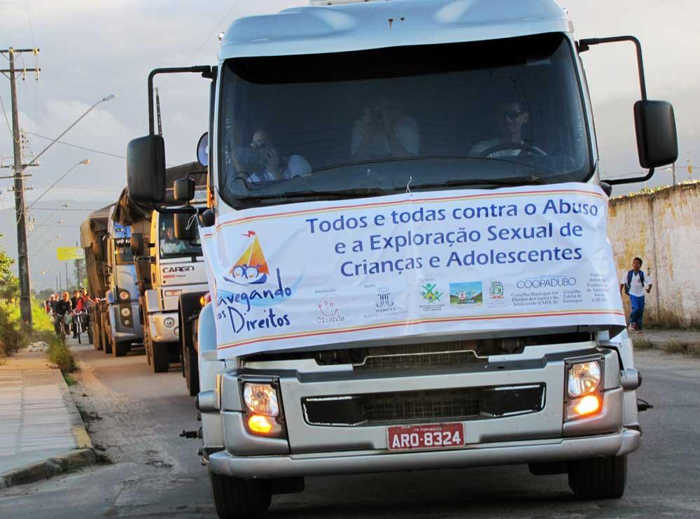 Caminhoneiro é agente fundamental na redução da exploração e abuso sexual de crianças e adolescentes em todo país