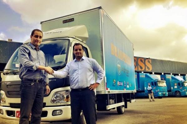 Caminhão Foton 3.5 começa a ser testado pela Braspress