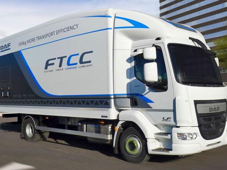 DAF desenvolve caminhão-conceito que pesa 500 kg a menos que um similar