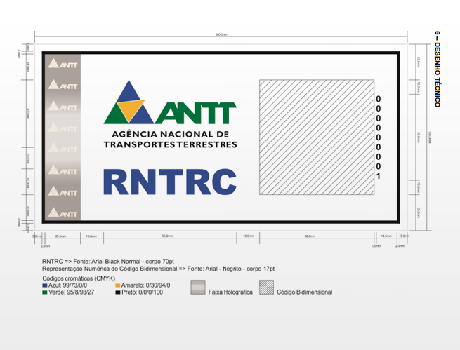 ANTT DIVULGA NOVO MODELO DE ADESIVO DO RNTRC