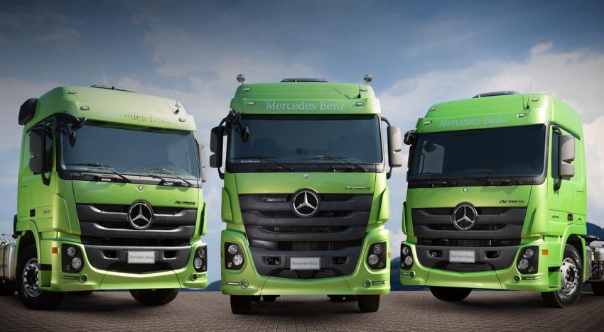 Novo Mercedes-Benz Actros chega pronto para asfalto e terra