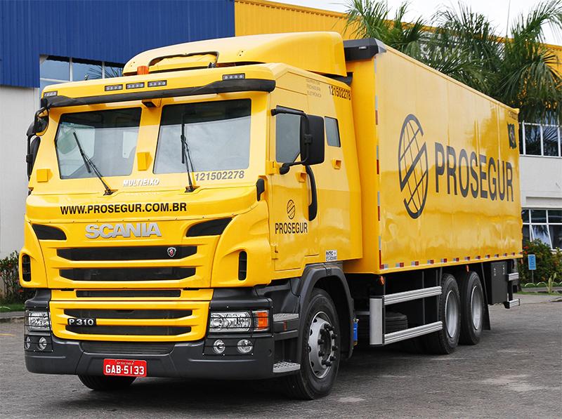 Scania vende para Prosegur seus primeiros caminhões blindados