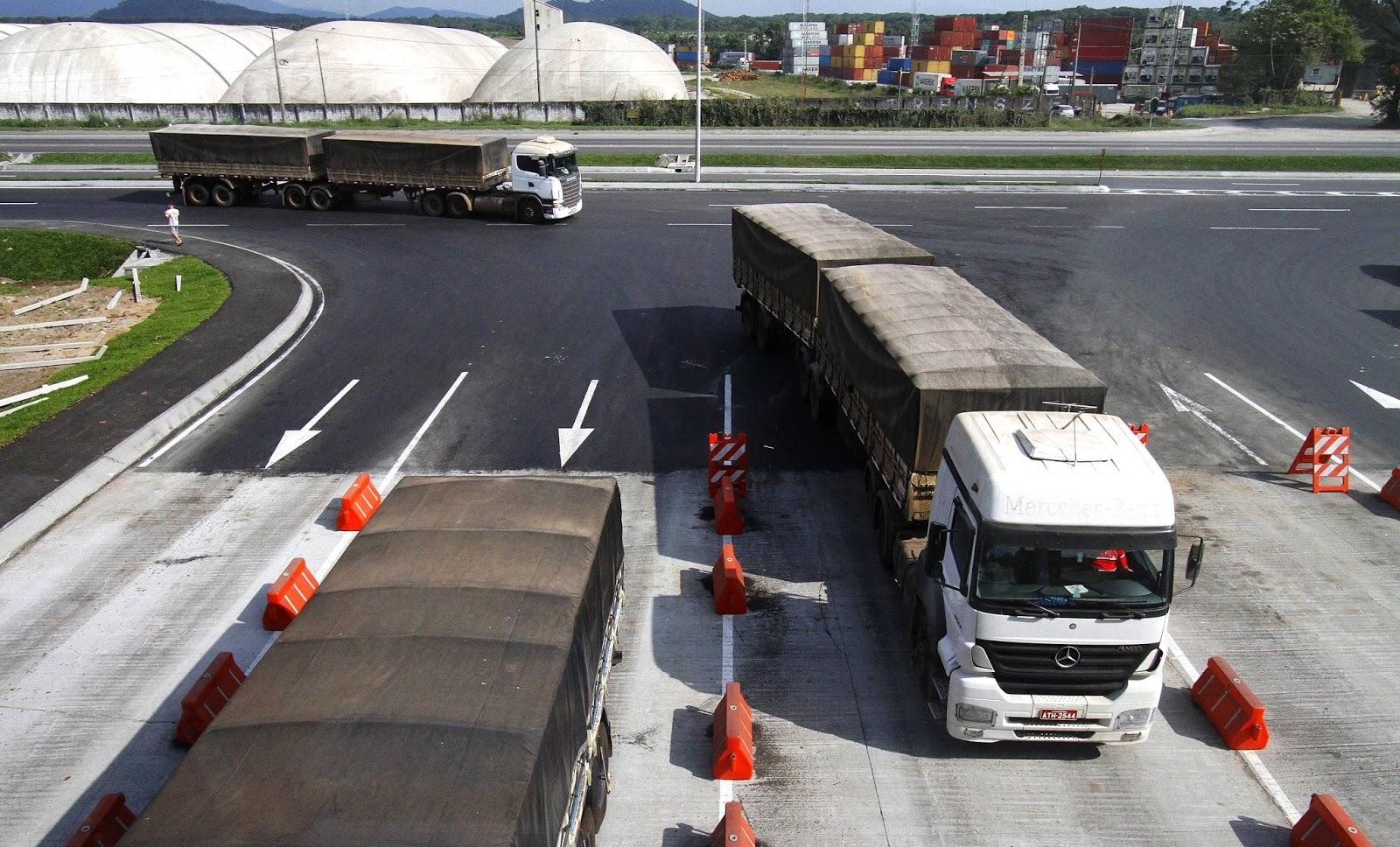 Nova tecnologia deve diminuir as filas de caminhões no Porto de Santos, SP