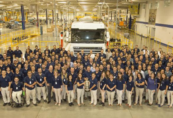 Fábrica brasileira da DAF recebe prêmio mundial de segurança