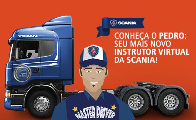 Conheça o Pedro: o mais novo instrutor virtual da Scania