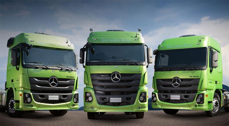 Novo Actros Mercedes-Benz já está rodando em diversas regiões do País