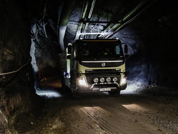 FMX autônomo realiza operações reais em mina sueca