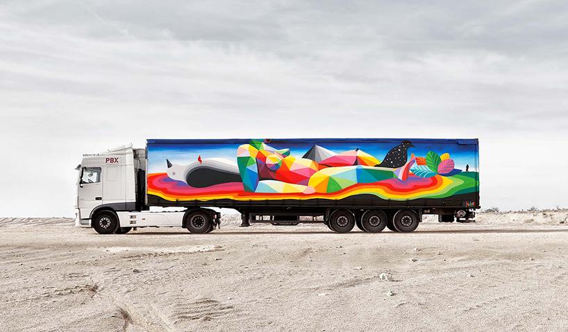 Caminhões tomam conta das ruas com arte