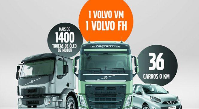 Volvo sorteará dois caminhões, 12 carros e 120 trocas de óleo até o dia 31