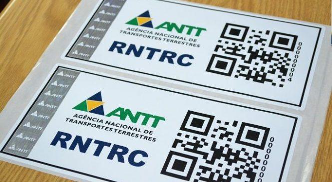 Prazo de recadastramento antecipado do RNTRC (ANTT)