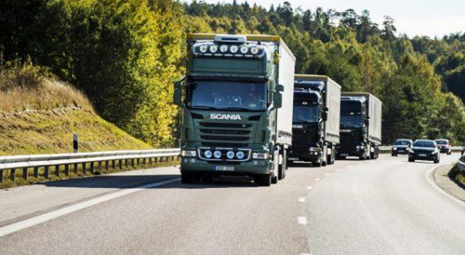 Scania participa de primeira operação com comboio 100% autônomo no mundo