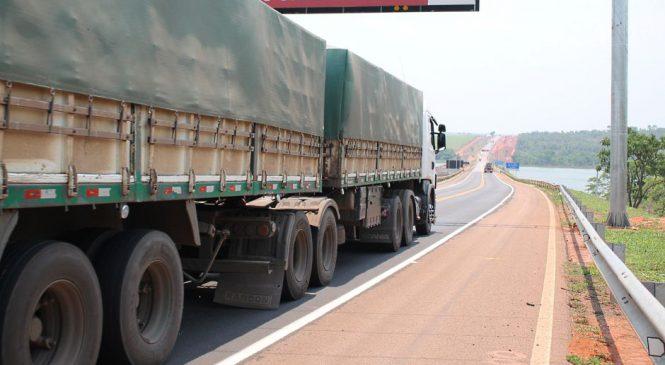 Escoamento da safra amplia em 17,6% o fluxo de veículos na BR-163