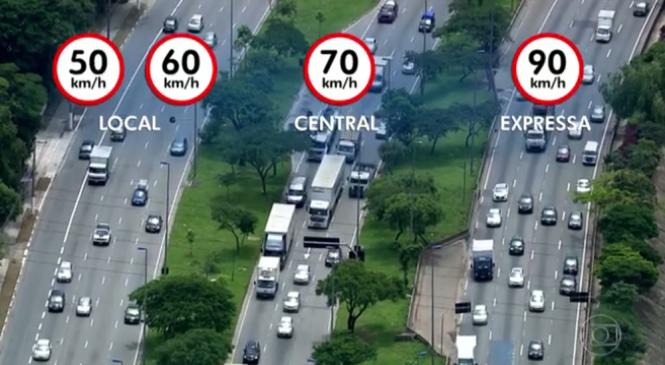 Marginais de SP tiveram 19 acidentes com feridos na 1º semana de novos limites de velocidades