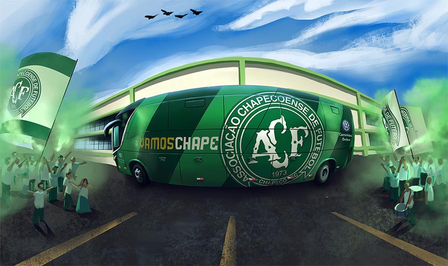 Chapecoense fecha parceria com Volkswagen Caminhões e Ônibus