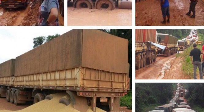 Exército interdita BR-163 para eliminar trechos com atoleiros no Pará