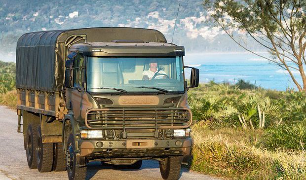 Scania leva caminhão 6×6 para feira internacional de segurança e defesa