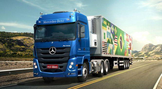 Mercedes-Benz ressalta reduzido custo de manutenção nos caminhões Actros em campanha nacional
