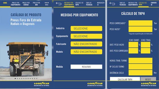 Goodyear desenvolve aplicativo móvel para pneus OTR
