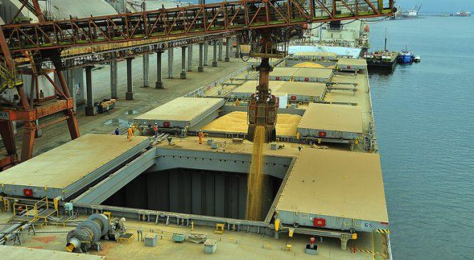 Com ajuda da soja, porto de Paranaguá atinge recorde