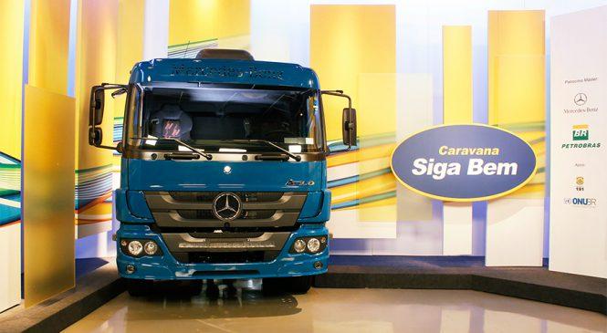 Promoção Compre e Concorra vai até o dia 30 de abril, clientes Petrobras e Mercedes-Benz poderão concorrer ao terceiro Atego 2430