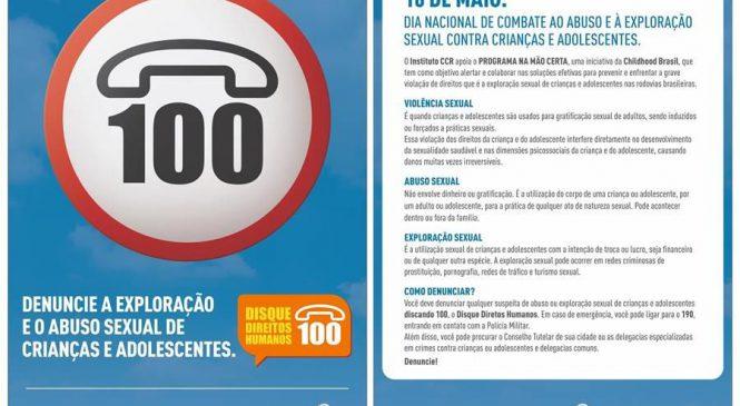 CCR ViaOeste, CCR RodoAnel e Instituto CCR promovem ações contra exploração sexual de crianças e adolescentes