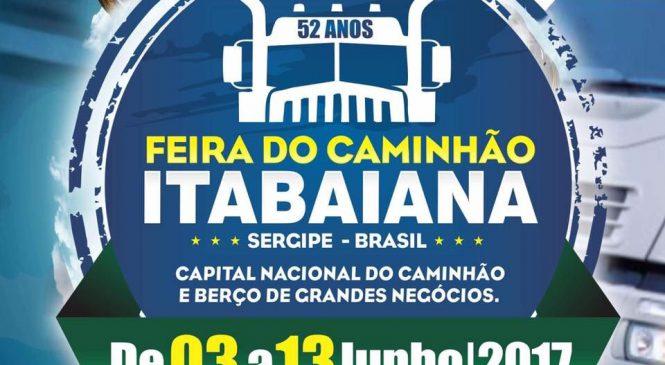 Confira a programação oficial da 52° Feira do Caminhão de Itabaiana