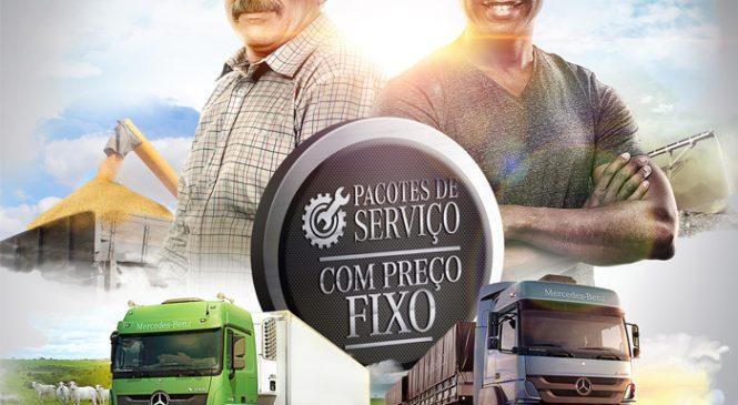 Mercedes-Benz lança pacotes de serviço com preço fixo para caminhões extrapesados