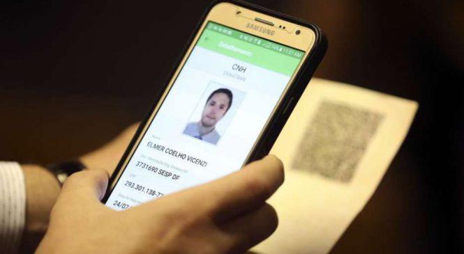 CNH por aplicativo começa a valer a partir de 2018