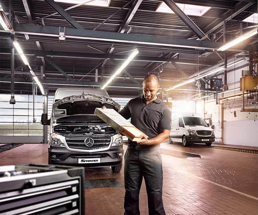 Mercedes-Benz oferece um ano de manutenção grátis para veículos da linha Sprinter