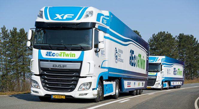 DAF participa de teste de platooning de caminhões no Reino Unido