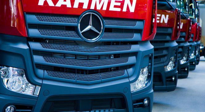 Mercedes-Benz Trucks vende 70 caminhões Actros para renovação de frota da KAHMEN na Alemanha