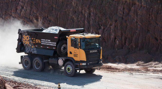 Heavy Tipper: novo Scania global para mineração.